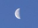 2008年の元旦の月の写真、下弦の月