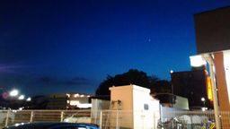 金星の見える夕景